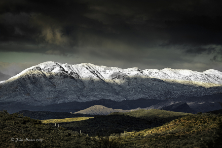 Winter View from North Mesa, Az