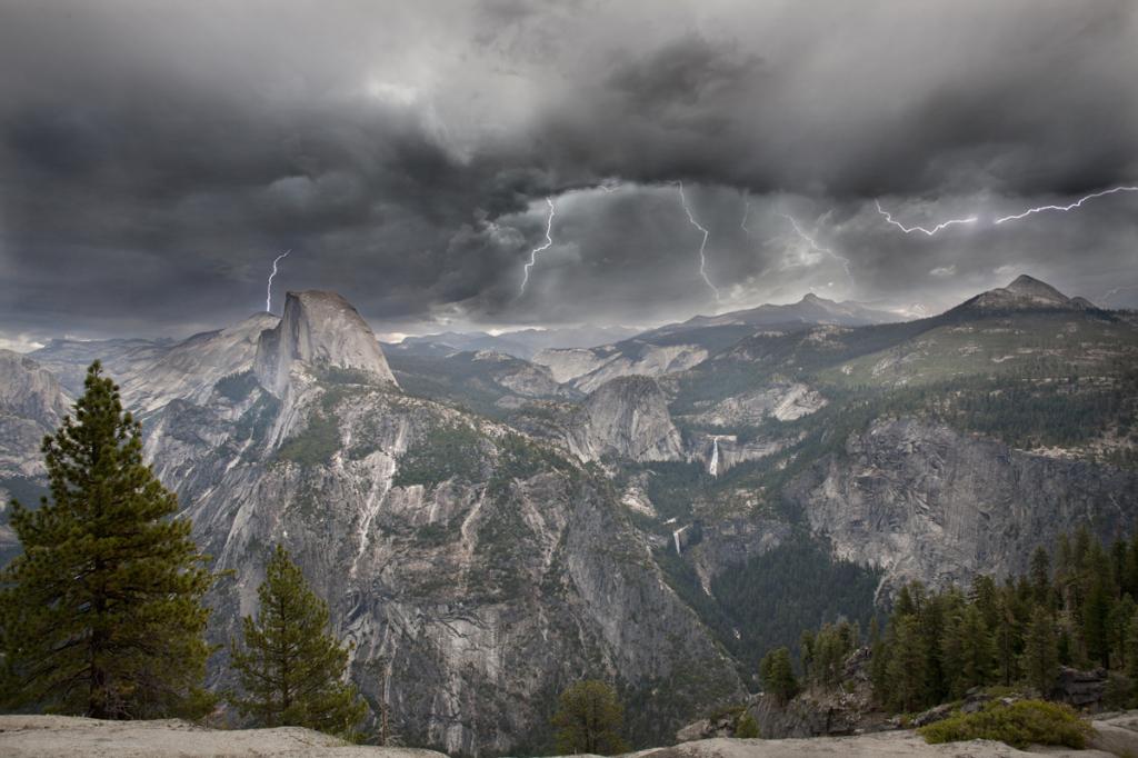 Yosemite Lightning Storm - ID: 15784745 © Peggy J. Sells