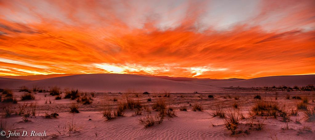 Sunrise at White Sands - ID: 15785224 © John D. Roach
