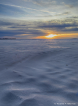 North Dakotas winter sand
