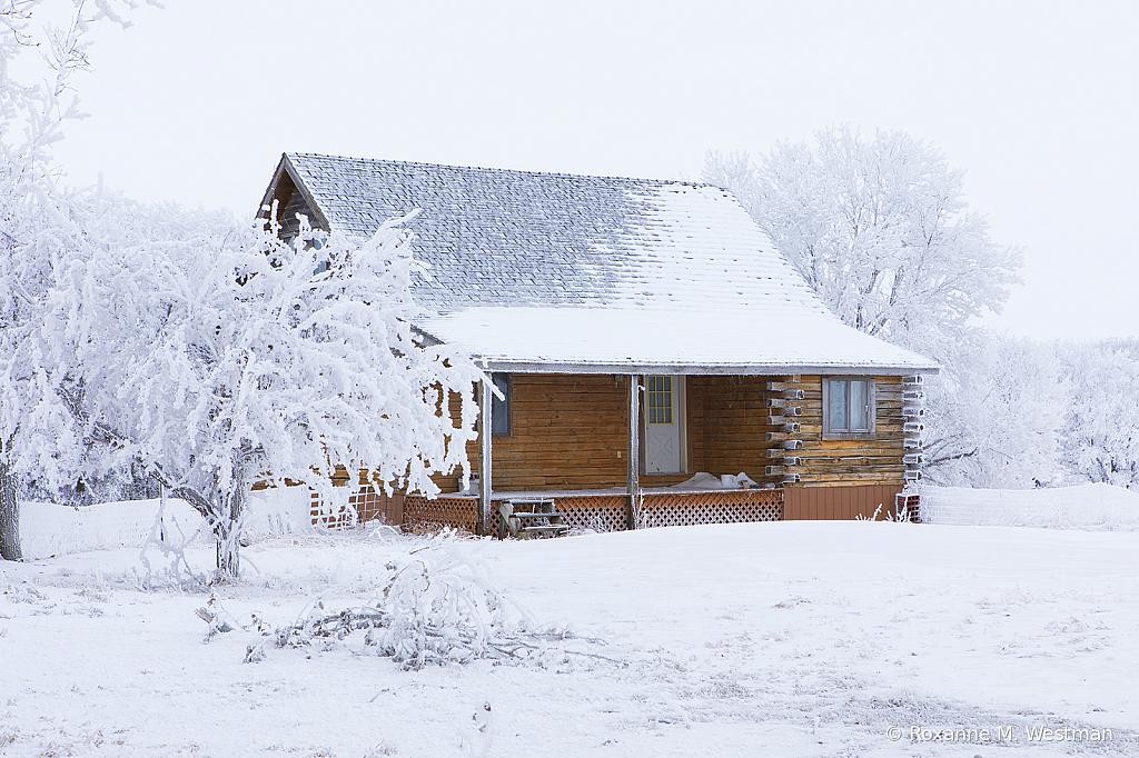 Cabin in Winter wonderland - ID: 15785375 © Roxanne M. Westman
