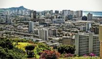Honolulu, Hawaii from National Cemetary