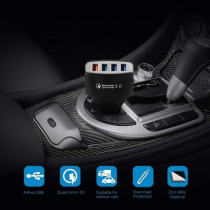 EYUVAA 4 Ports Car Charger 36W Quick Charge 3