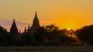 Sunset of Bagan.