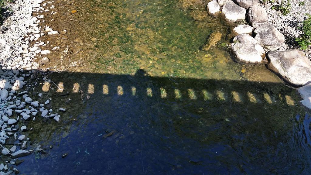 I being a followed by a bridge shadow!