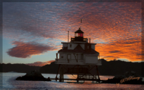 Thomas Point  Lighthouse at Sunset