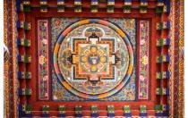 ceiling, Kenchogsem Lakhang Temple, Bhutan