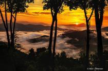 sunrise over Blue Ridge Mtns