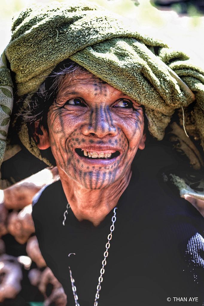 Chin Tatoo Face Women
