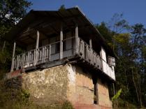Broken house at Bijanbari