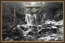 Elakala Falls BW w/ selective color...