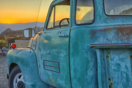 Blue Truck Sunrise