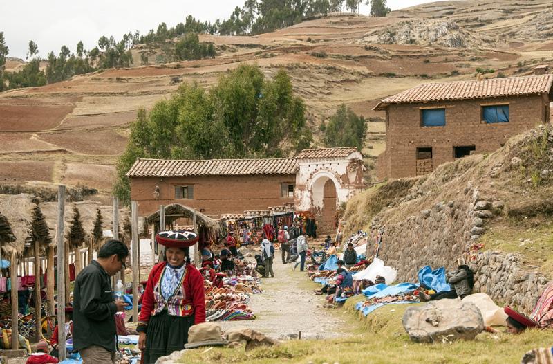 Outdoor Market in Peruvian Village