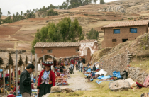 Outdoor Market in Peruvian Village