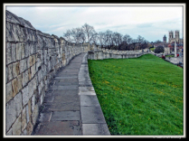Famous York Wall, in York, England