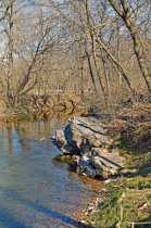 A Rock Outcropping Streamside