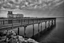 Winter Rain At The Pier