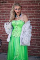 Green Eyed Beauty in a Green Dress