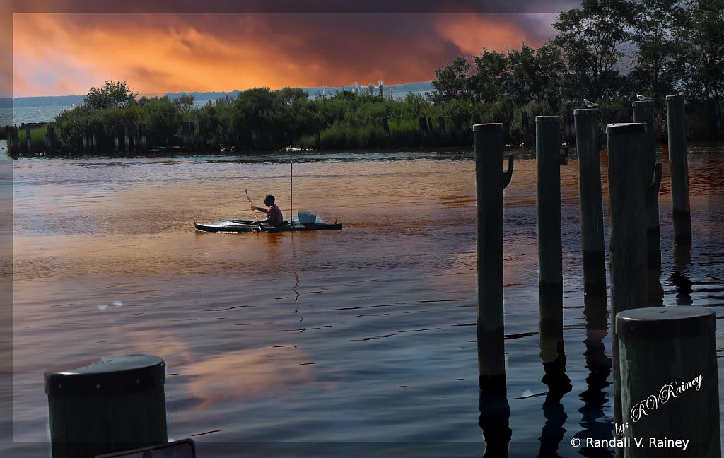 Kayak Crabber at sunset...