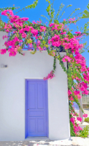 Aegean island home and colors.