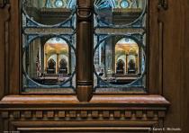 looking through Lobby Windows