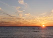 winter sunset Hammonassette CT