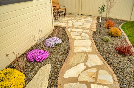 Our Flagstone Walkway