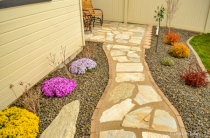 Our Flagstone Walkway
