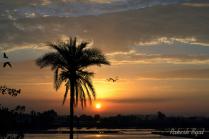 SUNSET AT RIVER SIDE