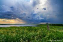 Incoming storm over the North Dakota wetlands