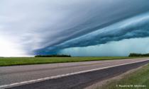 Wall clouds in North Dakota