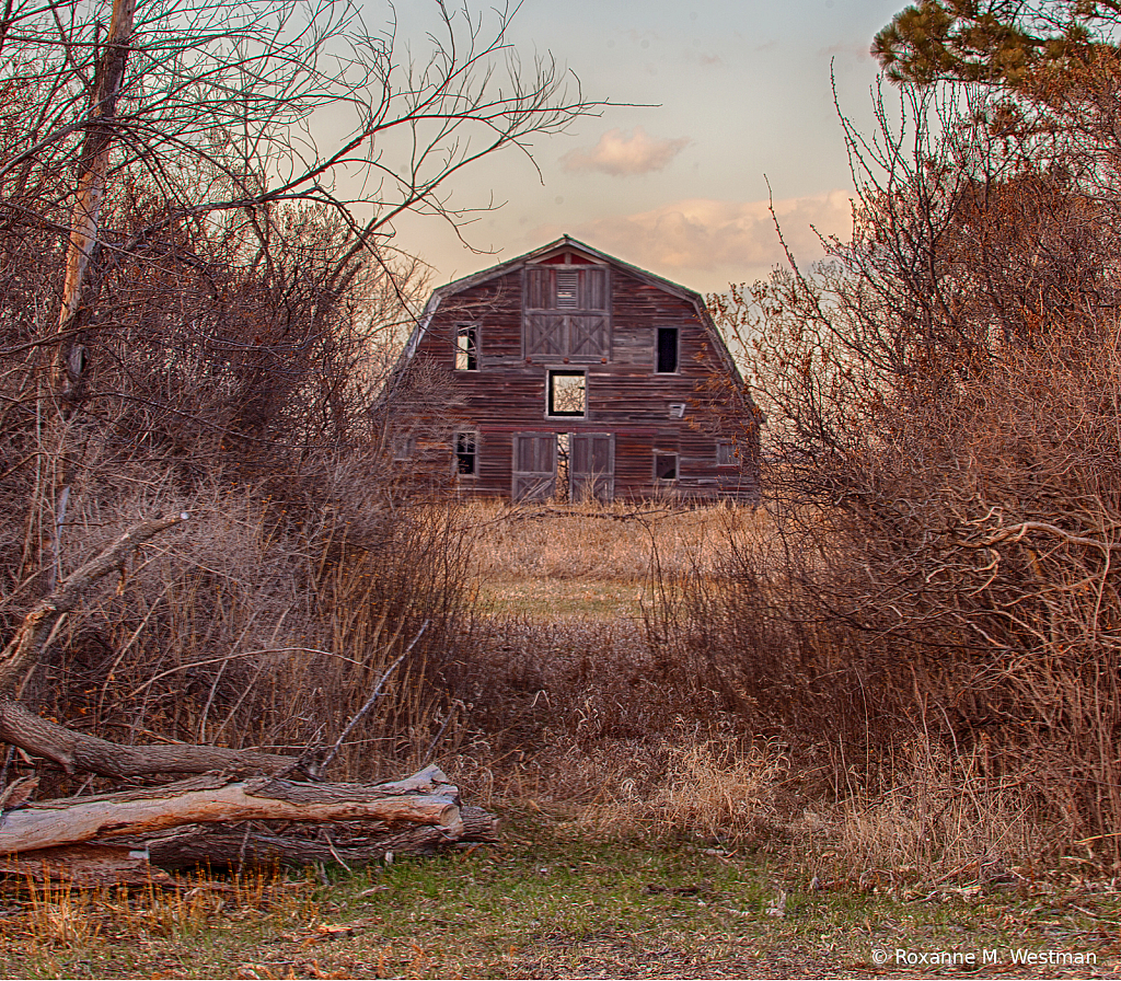 Abandoned barn in the country
