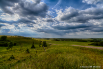 Sheyenne River valley on a stormy evening