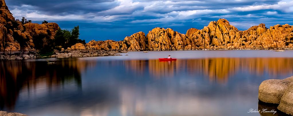 Stormy sky over Lake Prescott