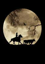 Cowboy and Antiqued Moon