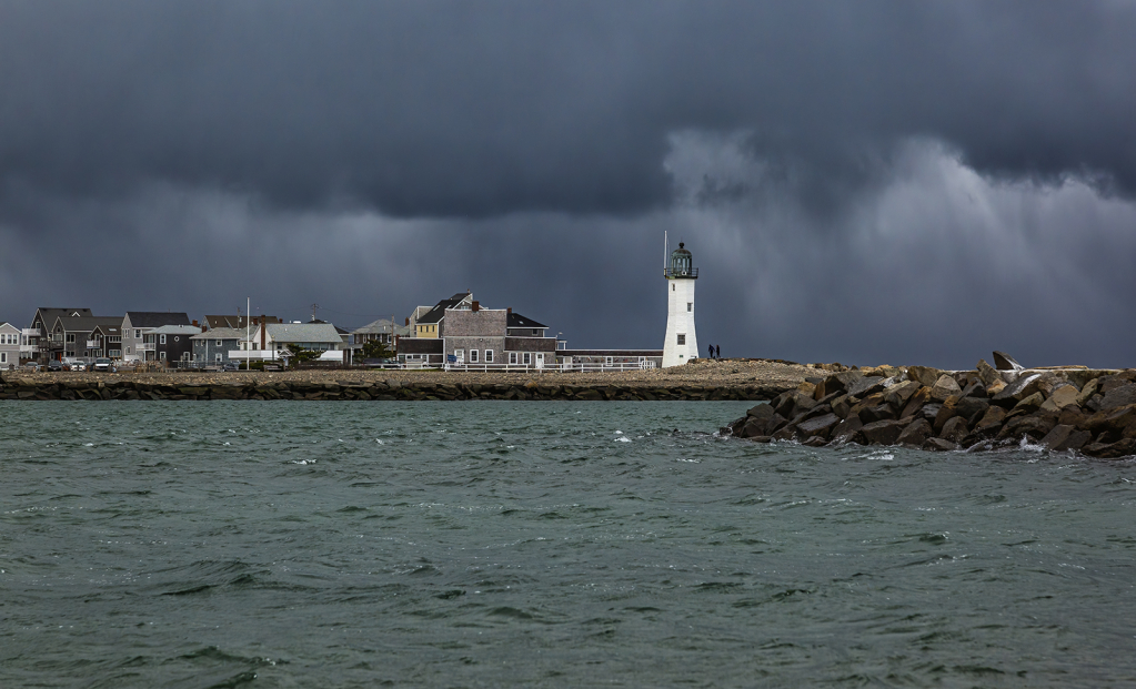 Storm Approaching Scituate Lighthouse