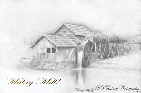 Mabre Mill conversion to Pencil Sketch