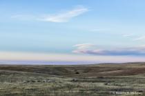 After sunset on the North Dakota prairie