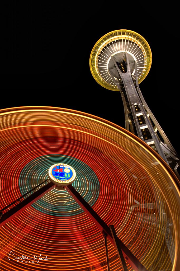 Seattle Space Needle & Ferris Wheel