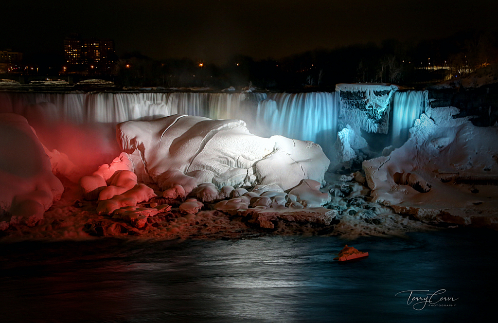 Lights on the Wintry Falls