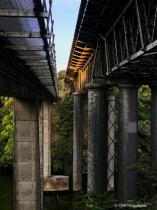 Last sunlight on Claudelands Bridge