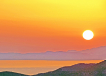 Sunset at an Aegean island.