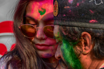 Colourful faces