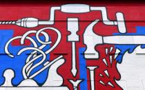 Hardware mural art, NYC