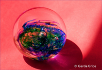 Little World in a Glass Paper Weight