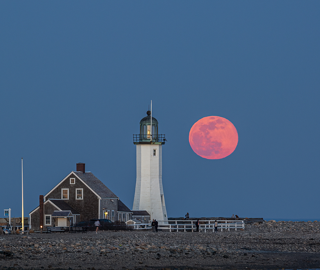 Full Moon at Scituate Lighthouse