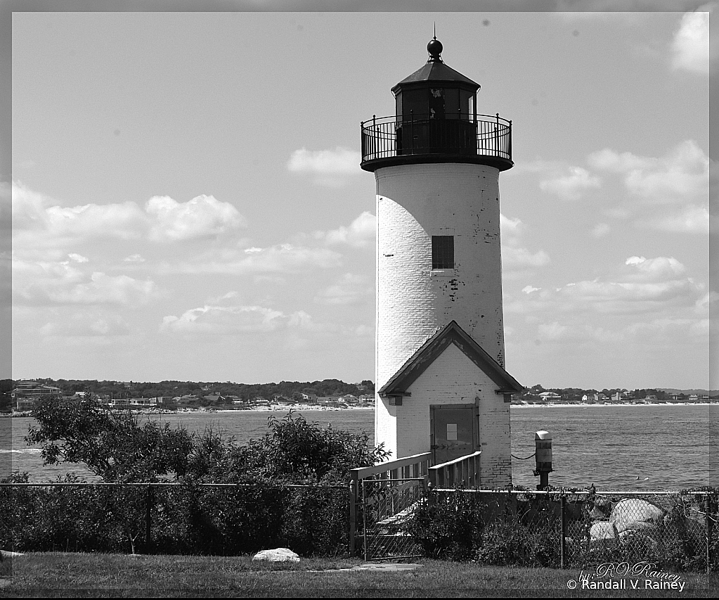 Annsquam Lighthouse in Ma.  B&W