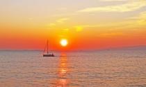 Enjoying the golden sunset.