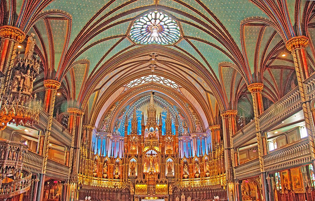 Inside cathedral.