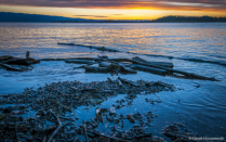 Sunset on Flathead Lake at Wayfarer
